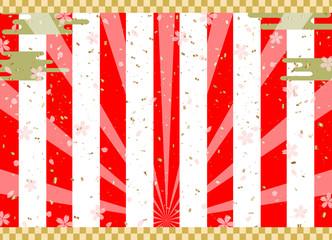 紅白 背景 桜