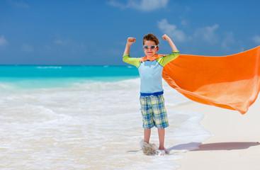 Cute little boy at beach