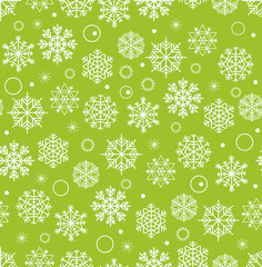 Winter seamless background with snowflakes. Christmas greeting c