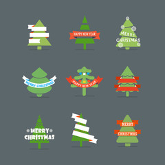 Christmas season vector elements collection. Greeting card eleme