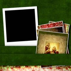 Christmas instant  photo frame Nativity Scene
