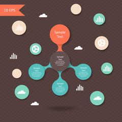 vector colorful metaball round diagram infographics