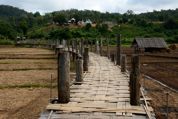 ฺBamboo Bridge to temple