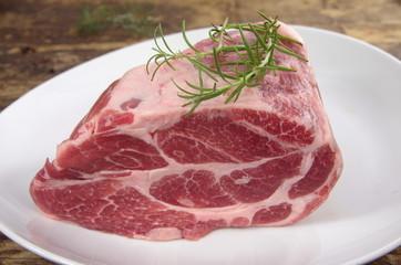 raw chuck steak