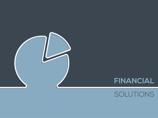 Financial solutions advertising background
