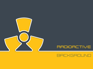 Simple radioactive warning background design