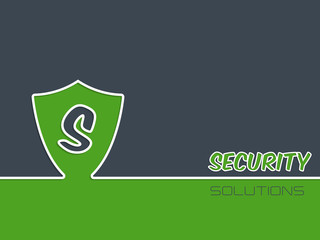 Security background with shield