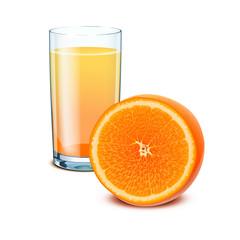 glass orange juice