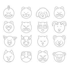 pet icons  mono vector symbols