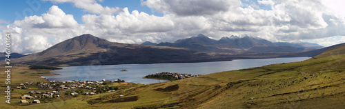 canvas print picture Very high resolution panoramic view mountains of Georgia