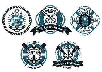 Nautical and marine heraldic emblems