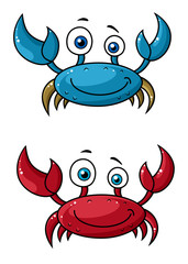 Crab funny cartoon characters