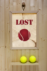 Ad lost tennis ball