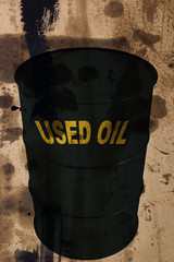 Barrel of used industrial oils