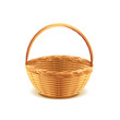Wicker basket isolated on white vector - 74671839