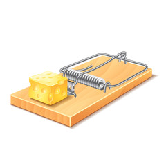 Mousetrap isolated on white vector