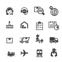 shipping icon set