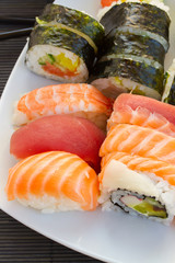 dinner with  sushi dish