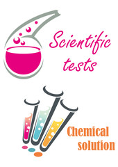 Chemical flasks and test tubes