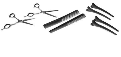 Hairdresser Accessories - Stock Image