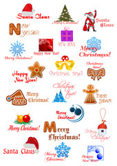 Christmas and New Year design elemens set