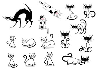 Cartoon cats characters