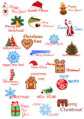 Christmas and New Year holidays designs