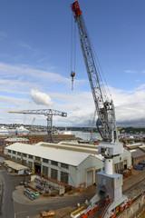 crane and docks, Falmouth