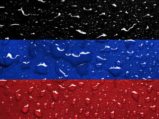 flag of Donetsk Krivoy Rog Soviet Republic with rain drops