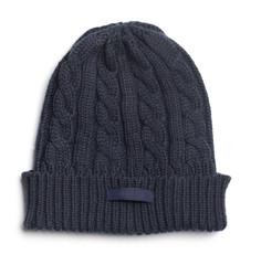 Blue Blace Hip hop Crochet Hat White background