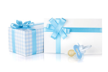 Gift box and pacifier for little boy