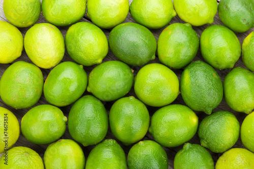 Fresh ripe limes © karandaev