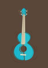 Vector ukulele guitar