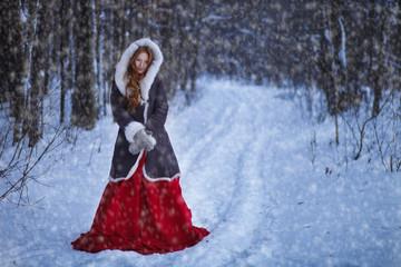Winter Portrait of beautiful girl