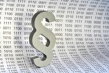 Datenschutz, Paragraph, binär, BDSG, Computer, Internet, IT