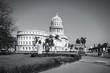 Cuba - Havana. Black and white photo.