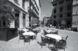 Havana retro. Black and white photo.