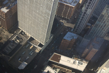 View from Willis Tower to Downtown Chicago, Illinois