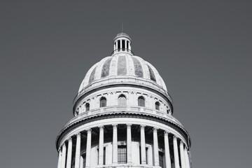 Retro Cuba. Black and white photo.