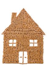 Haus aus Pellets zum heizen