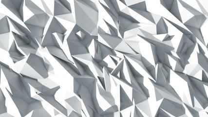 3d polygone beau fond texture blanc cristaux