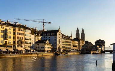 View of the embankment in Zurich - Switzerland