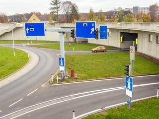 Österreich, Linz, Stadtautobahn