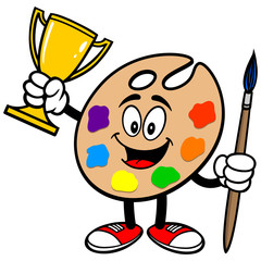 Art Palette with Trophy