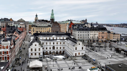Stockholm, Sweden. View of old town.