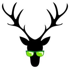 Hirsch mit Sonnenbrille