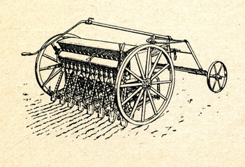 Seed drill (sowing machine) ca. 1930