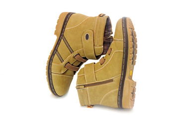 Comfortable and warm winter suede boots for women.