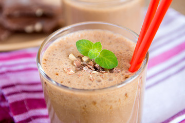 Milkshake (chocolate and banana smoothie)