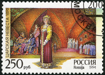 "RUSSIA -1994: shows an episode from the opera ""The Tsar's Bride"""
